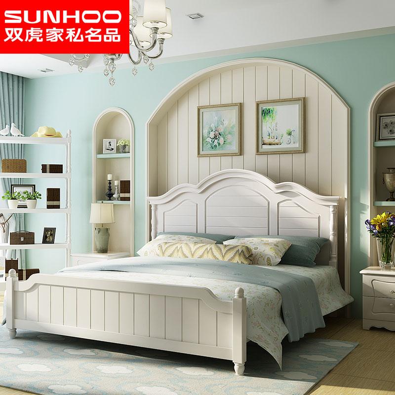 田园风格床 女生家具套装大床组合卧室婚房公主成人双人床16M102
