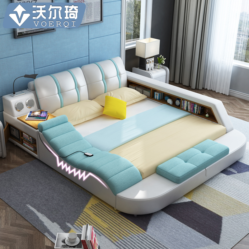 tatami bed master bed modern minimalist leather 15 double bed 18 m bed economy bed
