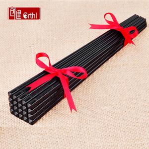 家庭酒店家用合金筷子加长套装10双20快子不锈钢非骨瓷竹实木个性