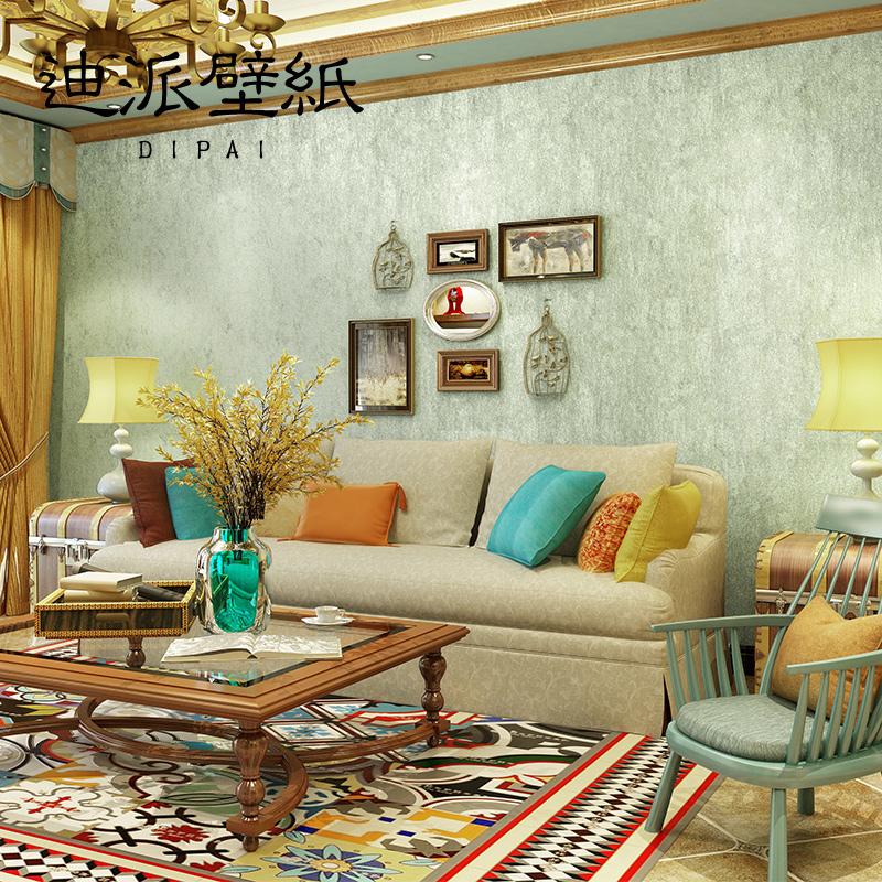 Di pai american wallpaper non woven retro plain wallpaper for Wallpaper home goods