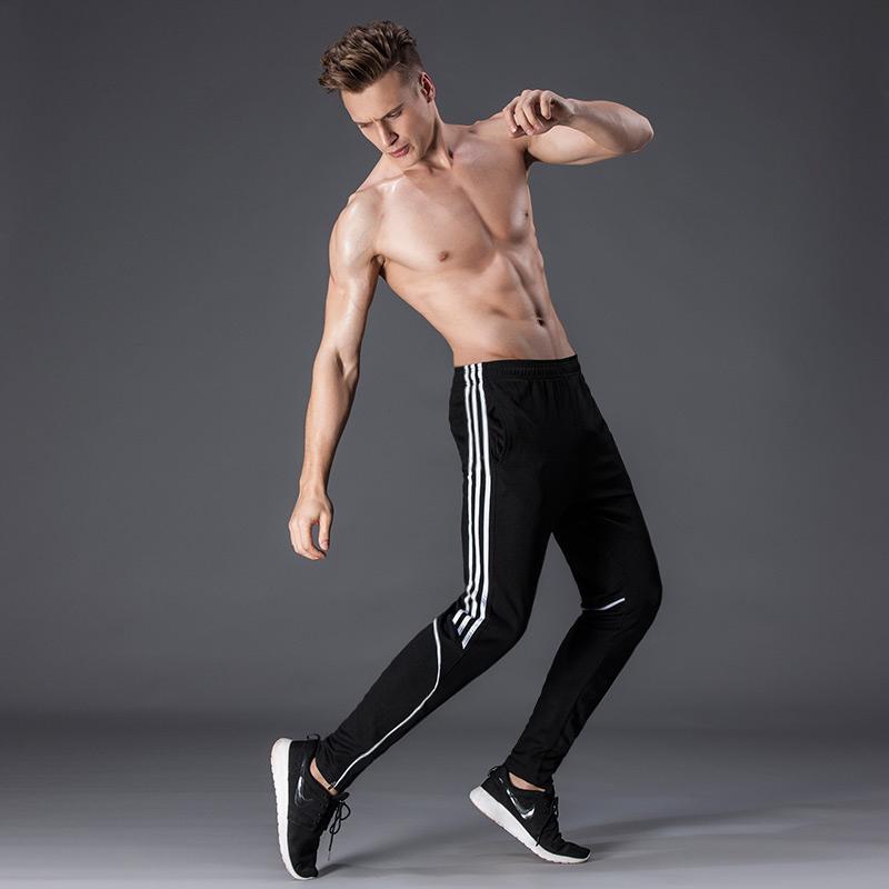 运动裤男秋冬款长裤收口小脚休闲裤子男士跑步足球训练健身裤加厚