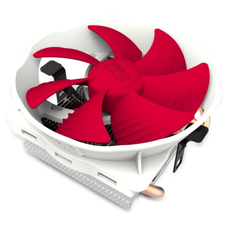 超频三七星瓢虫下压式CPU散热器775-115x-amd台式I3电脑风扇