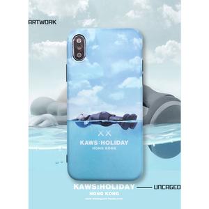 潮牌kaws芝麻街手机壳iphonexs max卡通软套X/XR苹果7p/8plus情侣