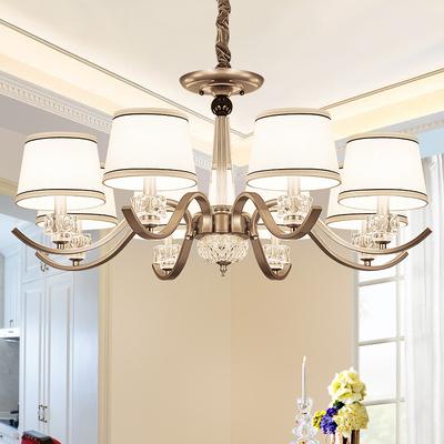 美式吊灯客厅简约餐厅创意卧室北欧铁艺欧式吊灯复古大气现代灯具