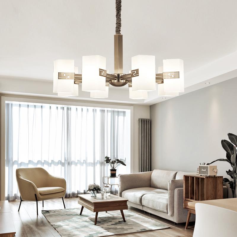 设计师后现代简约客厅吊灯创意个性餐厅玻璃灯罩简欧式风格灯具
