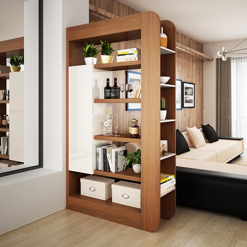 时尚客厅镂空隔断柜 储物玄关柜双面门厅柜 置物架创意烤漆间厅柜