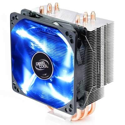 九州风神玄冰400台式机cpu散热器I3四热管I5电脑 风冷cpu风扇