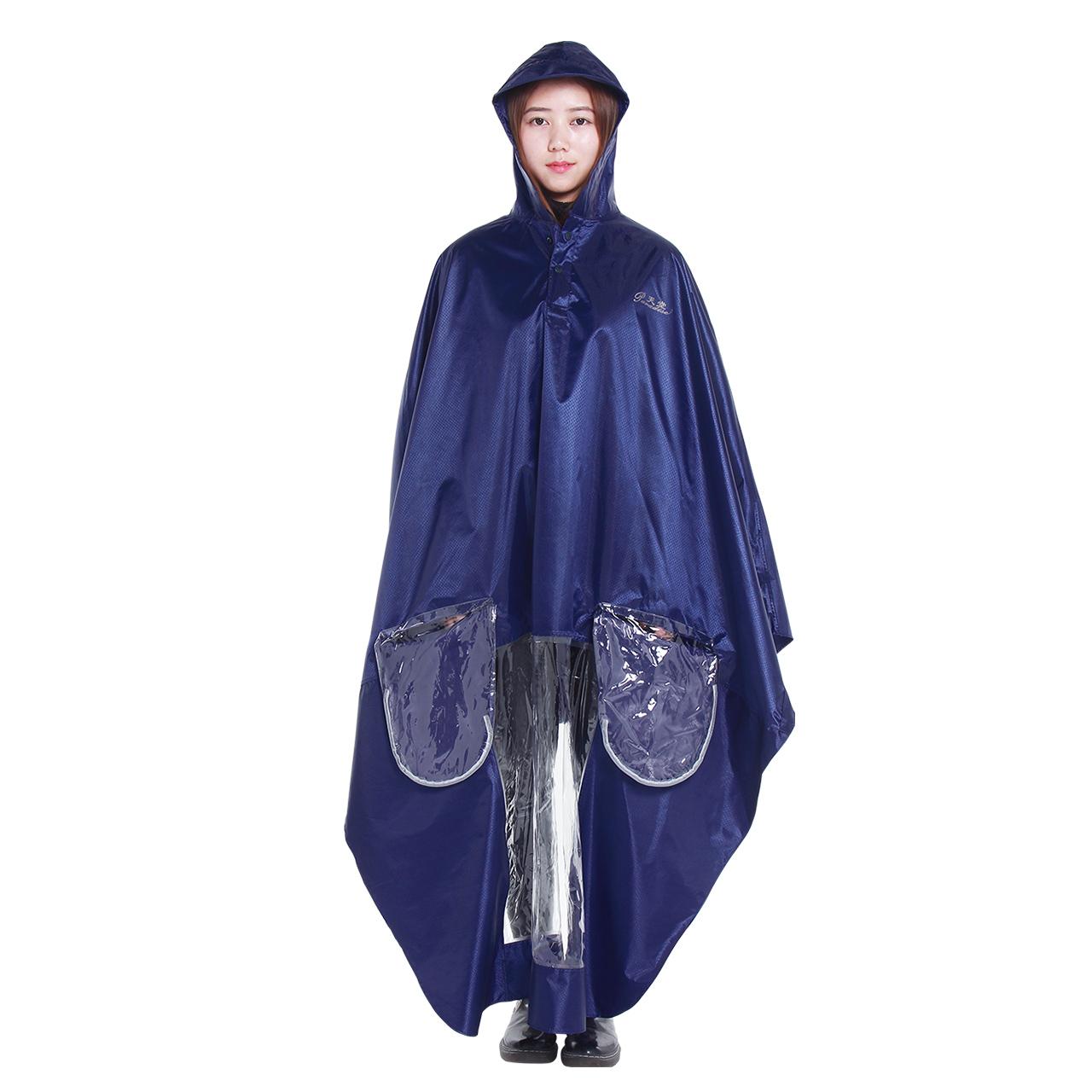 天堂伞旗舰店成人电动车牛津布雨衣电瓶车反光条雨披男女