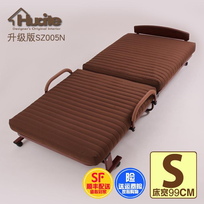 折叠床家用加长加固休息床办公室午休床1米床硬折叠床午睡陪护床