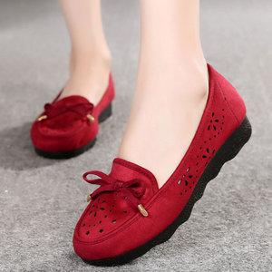 老北京布鞋女春2018新款妈妈工作黑色单鞋老人凉鞋女士老年步鞋子