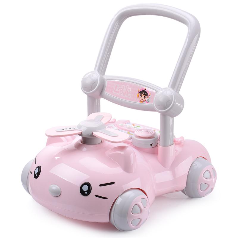 炜伦宝宝学步推车防侧翻婴儿学走路助步6-18个月学步车手推玩具车