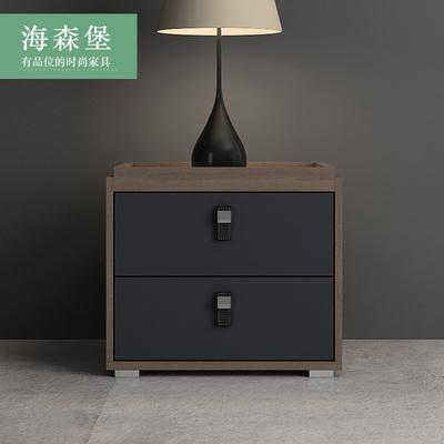 北欧风格实木床头柜简约现代迷你储物柜卧室边柜组装边几收纳柜