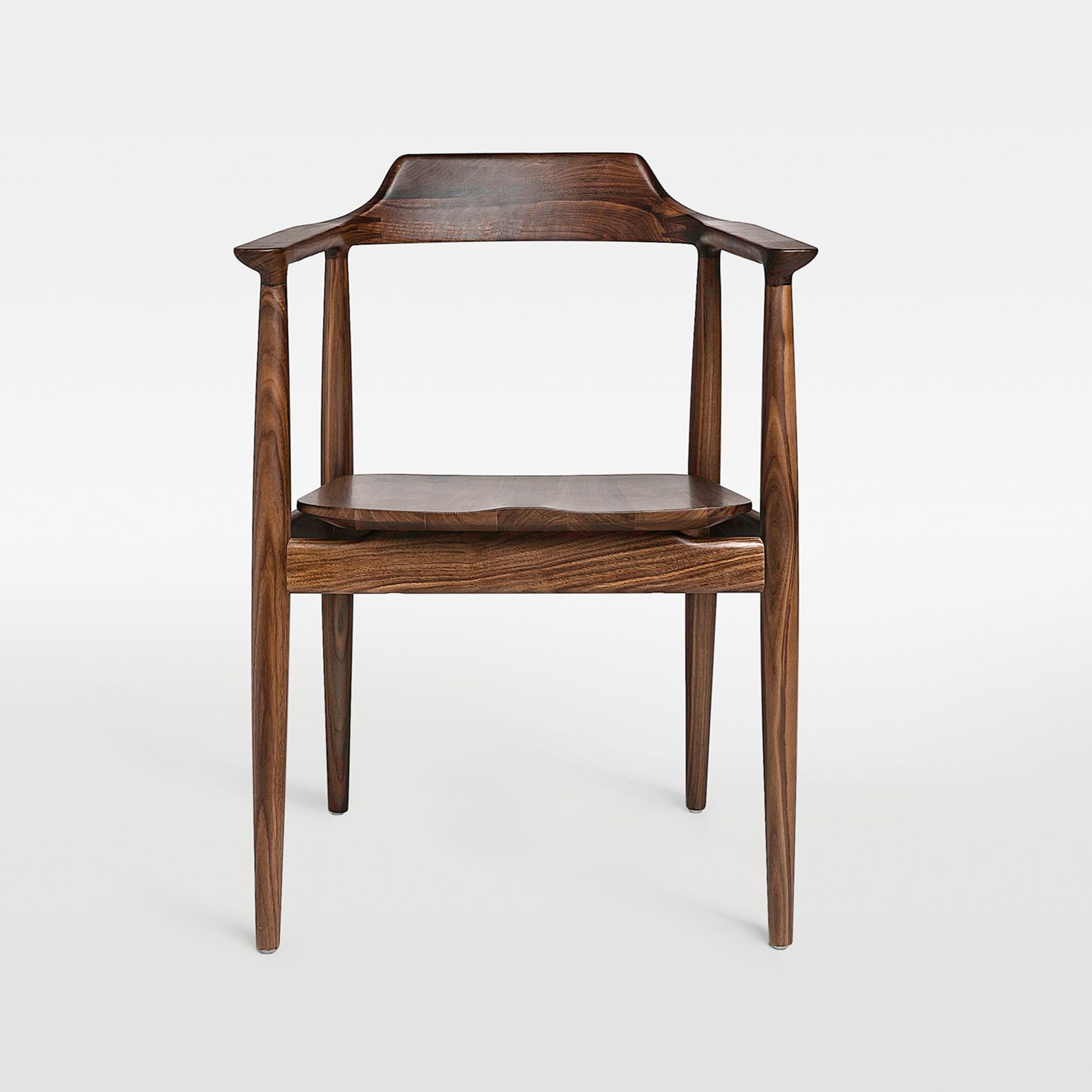 及木家具 北欧简约 原木 榉木白橡黑胡桃 全实木餐椅YZ039