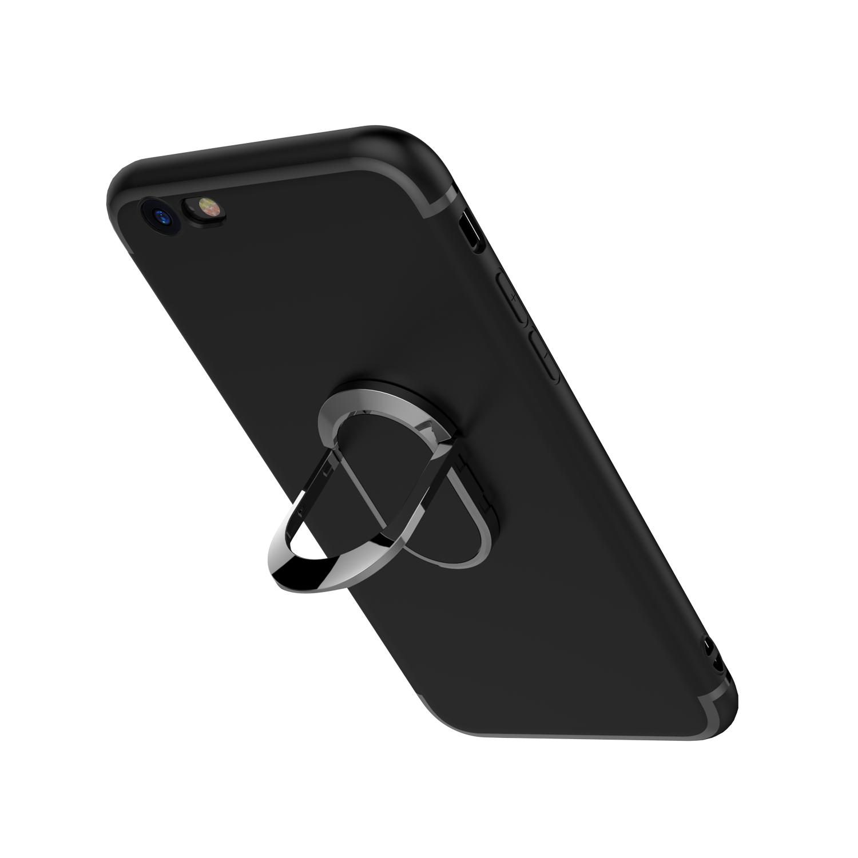 P苹果7plus手机壳iphone6车载6s磁吸i8硅胶套X指环扣一体超薄外壳带隐形支架8x八iphoneX软壳简约sp大气ipone