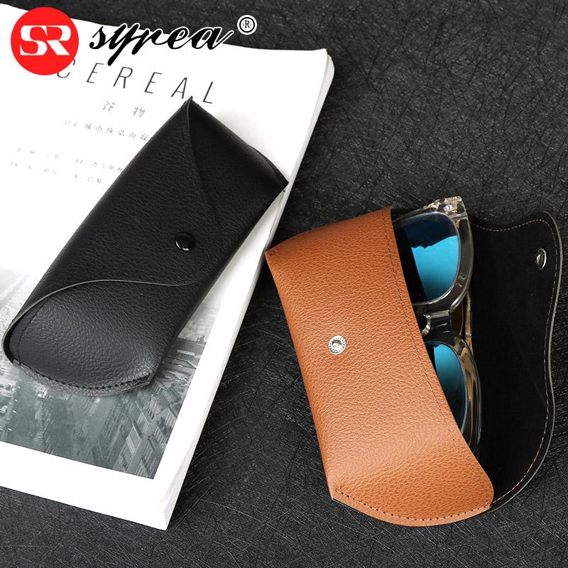 syrea皮革PU眼镜盒男复古便携眼睛盒女近视创意个性太阳镜墨镜盒