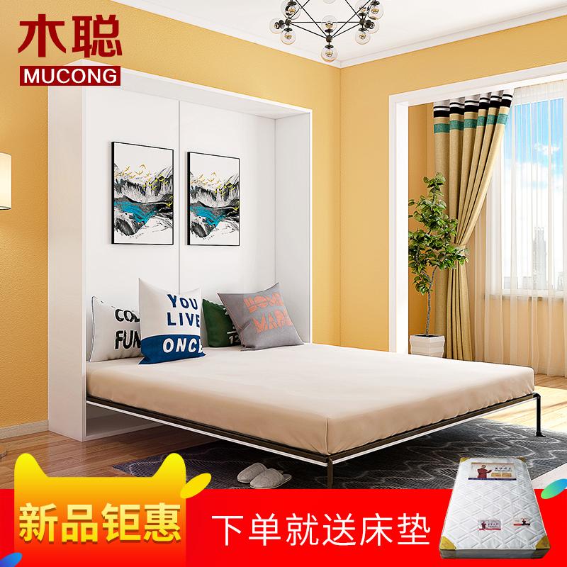 木聪定制折叠床 隐形床壁床双人单人简易正翻木板床隐藏床CH-001