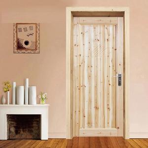 纯实木门定制原木套装门杉木松木门房间卧室平开门推拉门复古环保
