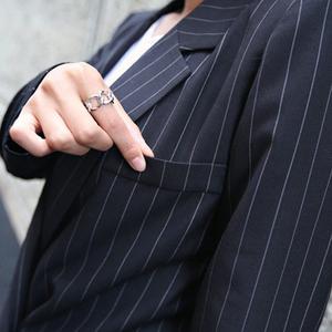 PQ78715# 春秋款OL西装职业套装女士长袖西服显瘦休闲西服两件套