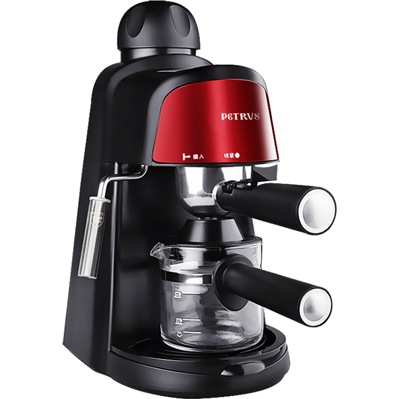 petrus cypress pe3800 italian coffee machine home steam milk frothing