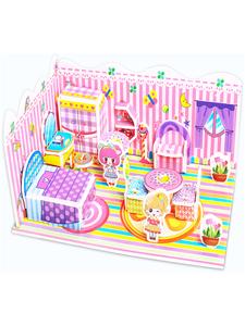 3d立体拼图纸质儿童益智玩具幼儿园男孩女孩3-6-8岁建筑大别墅