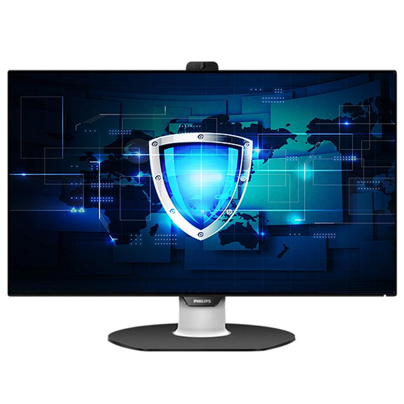 飞利浦241P8QPTKEB 23.8英寸IPS全面屏幕USB专业设计绘图渲染带音箱摄像头24液晶电脑显示器