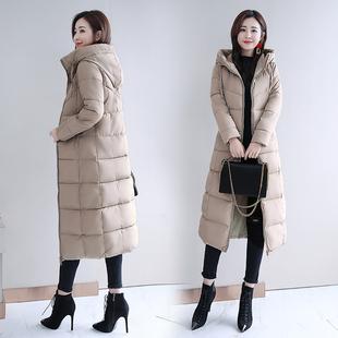 大码胖MM200斤可穿修身显瘦中长款棉衣女棉袄加厚棉服外套潮34