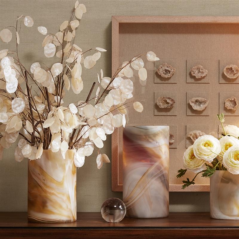 Harbor House美式渐变色玻璃花瓶2件套装客厅桌面摆件家居装饰品