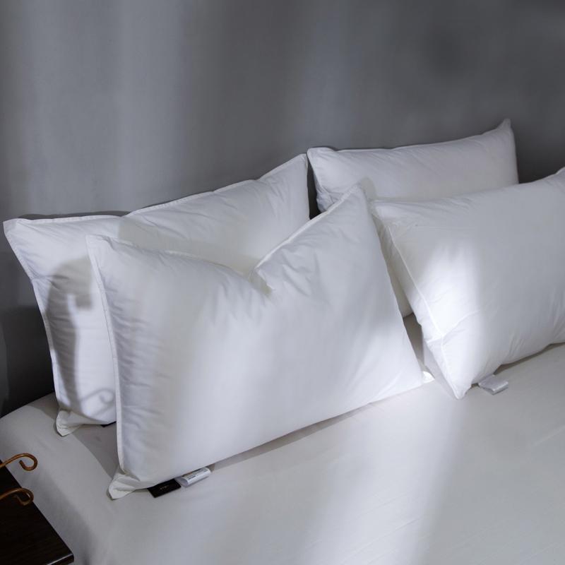 【一对装】五星级酒店枕芯羽绒枕芯白鹅绒枕羽绒枕头单人护颈枕