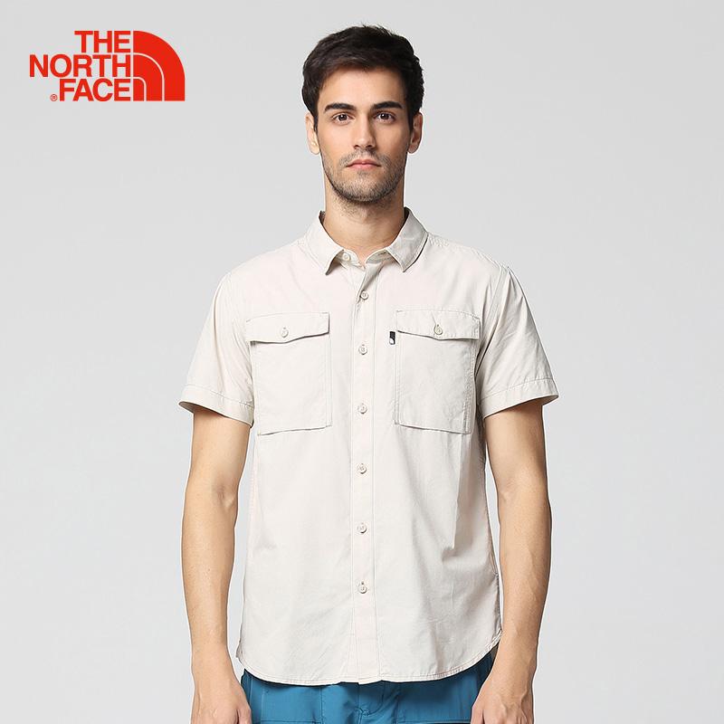 TheNorthFace北面春夏新品舒适透气户外休闲男短袖衬衫|3GIH