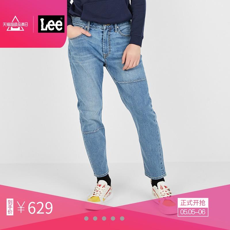 LeeX-LINE男款2019年新款蓝色舒适小直?#25490;?#20180;裤L147312VA21R,降价幅度22.2%