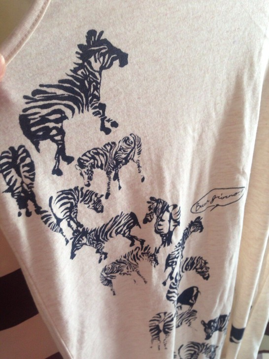 [转卖]酷说法语の斑马与犀牛图案加长款背心无袖夏季新连衣裙