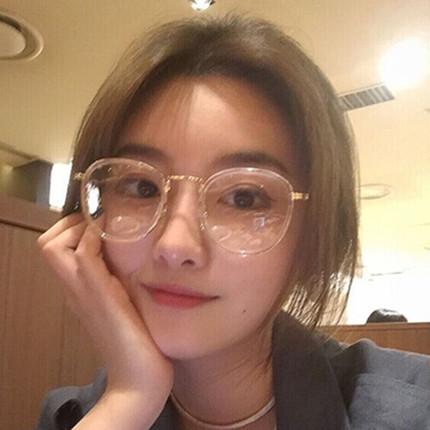 原宿透明超轻tr90眼镜框女韩版潮复古全框近视可配度数白色眼睛架