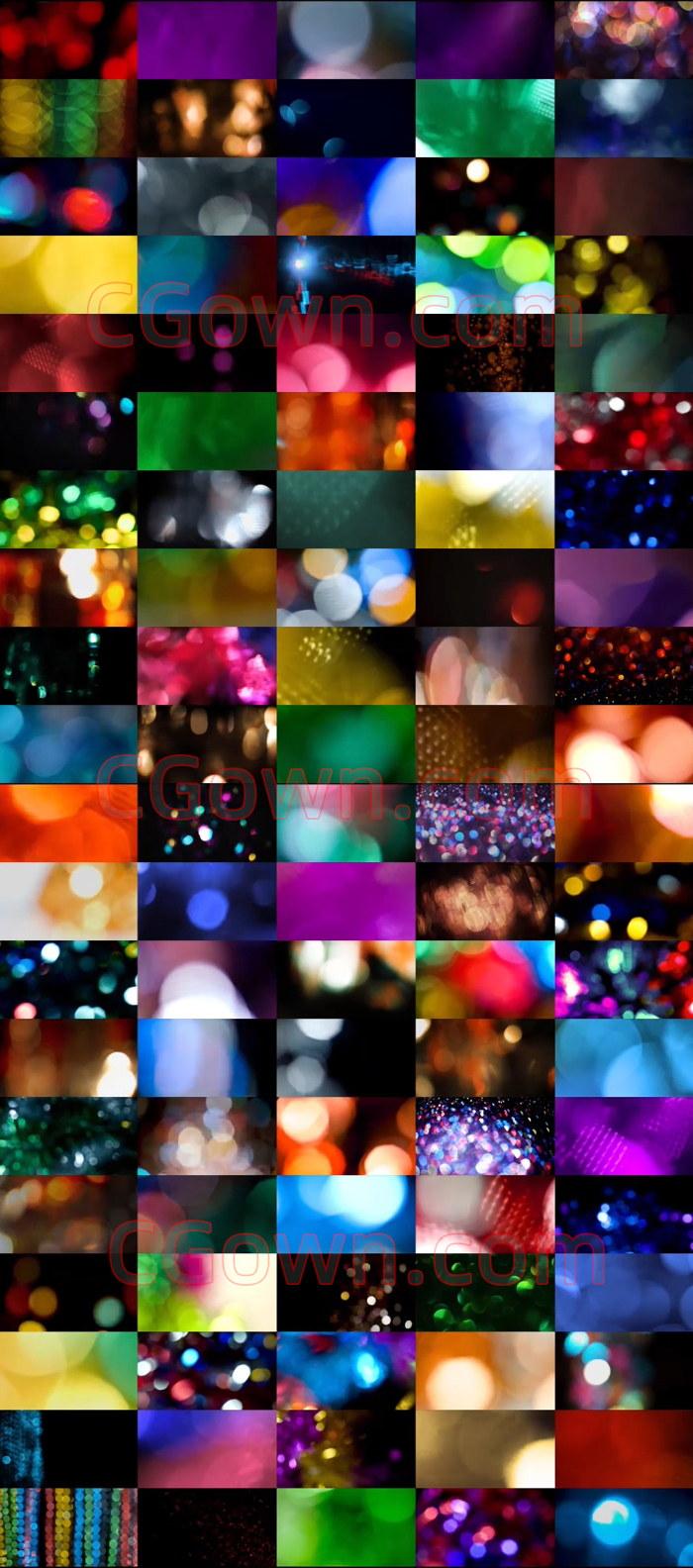 263种美丽散景光斑唯美光效元素4K分辨率视频素材47.5GB大小