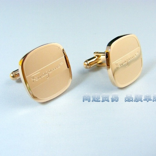 Запонки Новая модель Роуз Золотые Запонки мужские французский манжеты рубашки рукав винт запонки