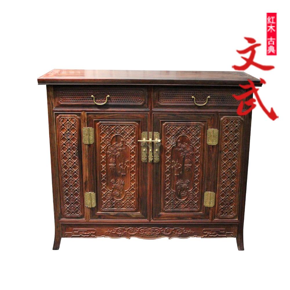 文武仙作中式雕花储物柜