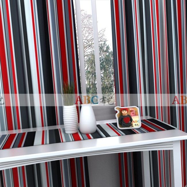 negro blanco y rojo a rayas gris de la sala dormitorio dormitorio y balcn ventana semi sombra lona cortinas de