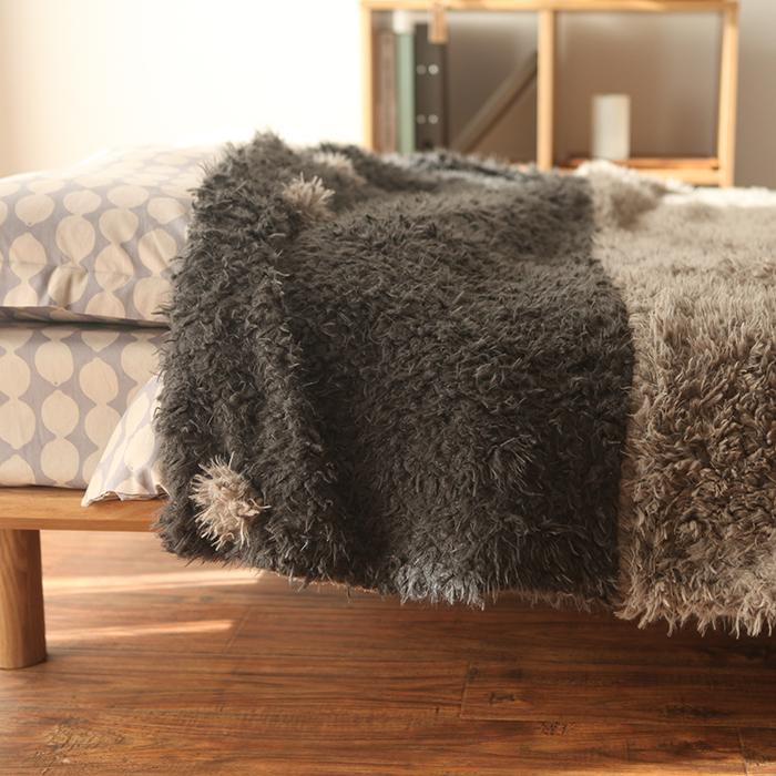 古堡花园羊仔绒双层毛毯加厚毯C001