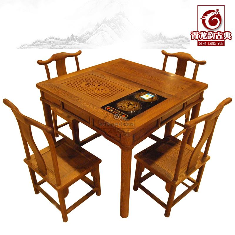青龙韵红木家具正方形茶桌52412