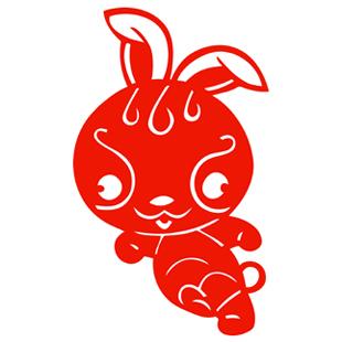 卡通生肖兔剪纸新年货贴纸春节日喜庆窗花民间传统艺术装饰福字图片