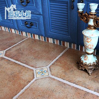 蓝莓小镇瓷砖花片八角