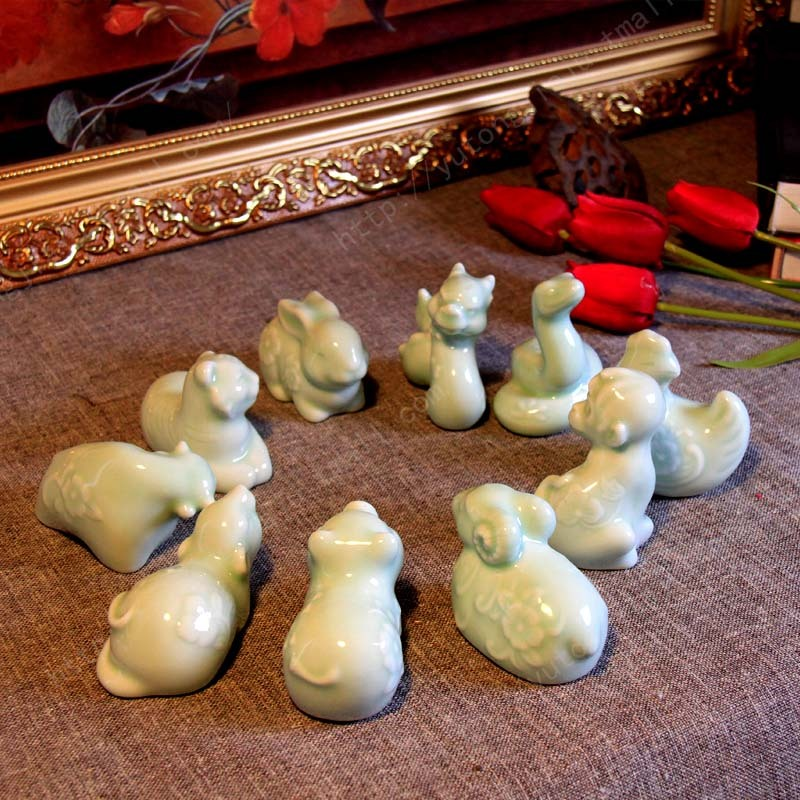 Ceramic crafts are zodiac furnishing articles Ceramic creative home decoration home decoration