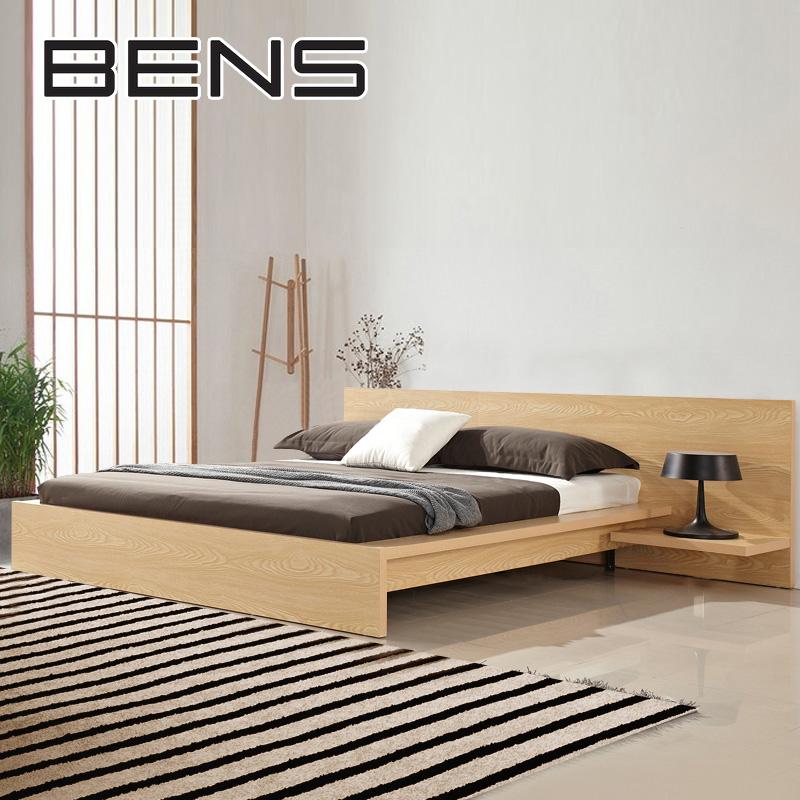奔斯 日式原木床榻榻米板式床卧室简约现代主卧双人床1.8米703