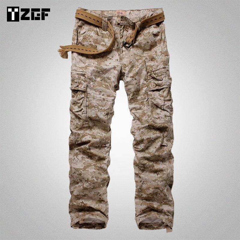沙漠迷彩裤男长裤子宽松直筒军事特种兵军装潮户外大码休闲工装裤