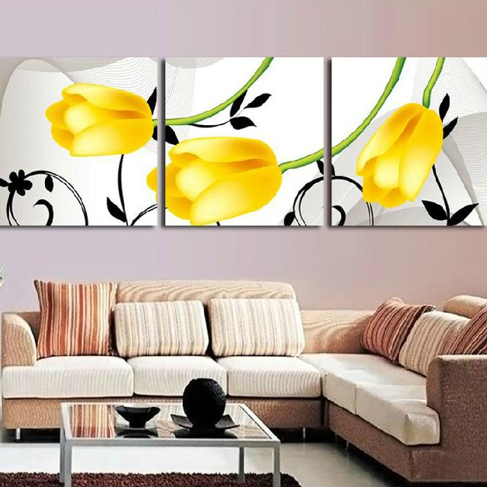 绣魁十字绣黄色郁金香HH-0562
