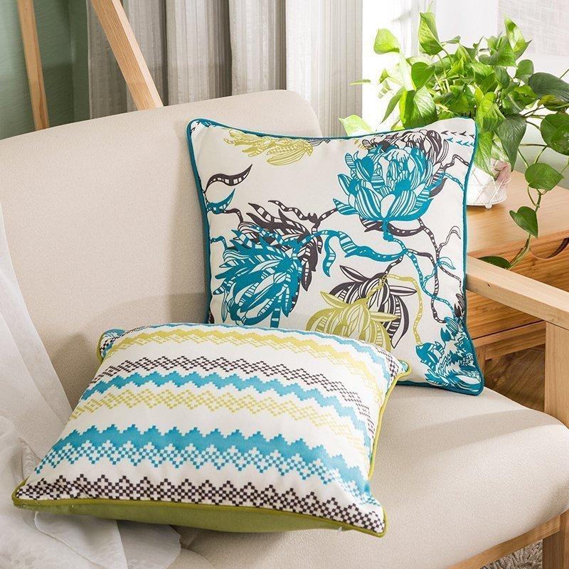凯斯黛尔欧式地中海风格条纹抱枕ks623