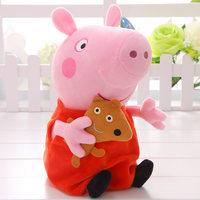 小猪佩奇粉红猪小妹佩佩家庭装一家四口过家家毛绒布娃娃宝宝礼物