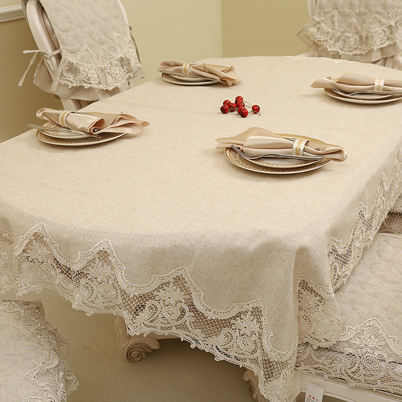 月和家思亚麻餐桌布舒芙蕾