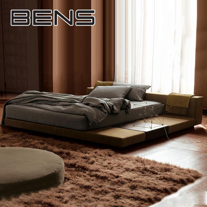 奔斯北欧布艺床榻榻米床简约现代可拆洗双人床1.5米1.8米主卧206