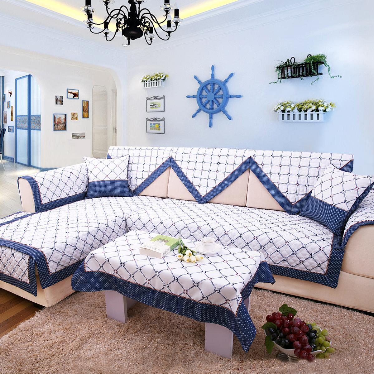 一朵地中海沙发坐垫
