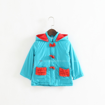 (Three 30% off 80 counters children's clothing windbreaker jacket cotton jacket thin cotton 123-11404B
